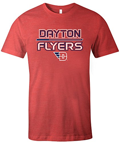 Image One NCAA Dayton Flyers Adult Unisex NCAA Reverse Short sleeve Triblend T-Shirt,XL,Red