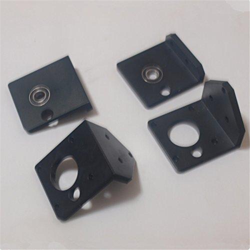 Hot HEASEN RepRap Prusa I3 3D rework DIY Printer Accessories Aluminum Metal Black Z Shaft Bottom Left/Right Upper Left/Right 8 Set Box for cheap