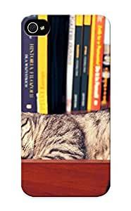 Case Provided For Iphone 5/5s Protector Case Animal Cat Cute Book Sleeping Phone Cover With Appearance hjbrhga1544