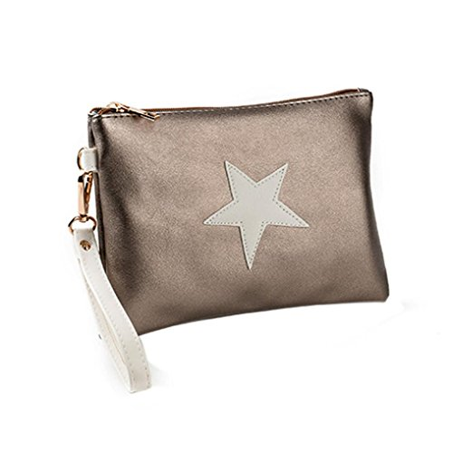 Card Coin Womens Envelope Clutch Wallet Purse Bags Holders Fashion Handbag SHOBDW A Stars Zipper Women 8P8Rrqw