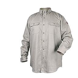 Black Stallion TruGuard 300 NFPA 2112 Flame-Resistant Cotton Work Shirt - XL