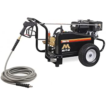 Mi-T-M CW-3004-4MGH CW Gasoline Series Cold Water Belt Drive, 389cc Honda OHV Gasoline Engine, 3000 PSI Pressure Washer