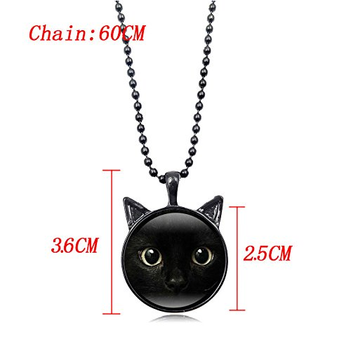 Womens Necklace Cute Cat Animal Pendant Chain Gifts for Mom Wife Daughter Mixpiju (Silver) by Mixpiju-Jewelry (Image #1)