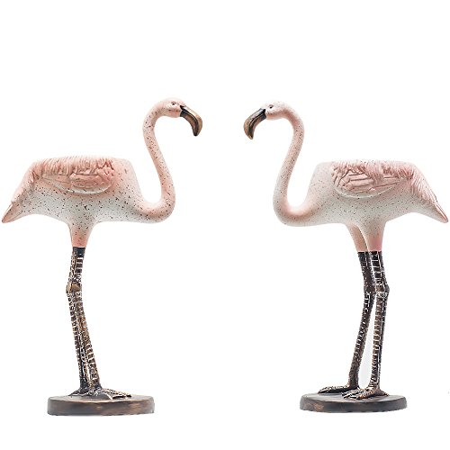 - SUN-E H7.1 Inch Mini Life-like Flamingo Flowers Succulent Plants Pot Cactus Plant Pot Also For Candle Holder Lovely Flamingo Design Set of 2 With A Hole