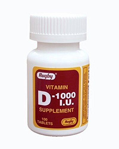 Iu 100 Tabs (D 1000 IU TAB CHOLECALCIFEROL-1000 UNIT white 100 TABLETS UPC 005363334014 by RUGBY LABORATORIES)