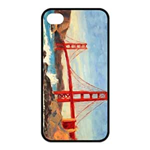 Custom Golden Gate Bridge Design Rubber TPU Case for Iphone 4 4S