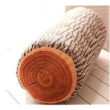"""JustNile Decorative Throw Pillow - 19"""" X 7"""" Wood Log"""