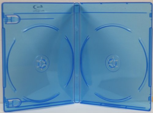 (5) Empty Standard Double Blue Replacement Boxes / Cases for Blu-Ray Disc Movies BR2R12BL