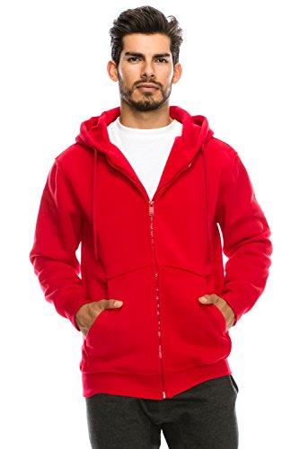 red hooded zip up sweatshirt - 8