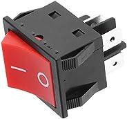ON-Off 4 Pin Rocker Boat Switch,30A Welder Welding Machine 4-Pin Boat Type ON/Off Rocker Switch,IP65 Waterproo