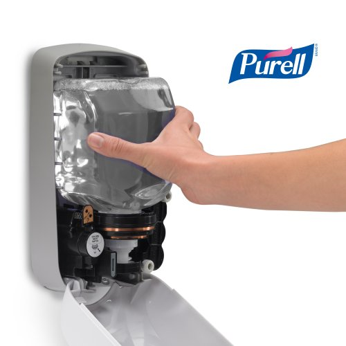 PURELL Advanced Hand Sanitizer Foam TFX Starter Kit, 1-1200 mL Hand Sanitizer Refill + 1- PURELL TFX Dove Grey Touch-Free Dispenser – 5392-D1 by Purell (Image #7)