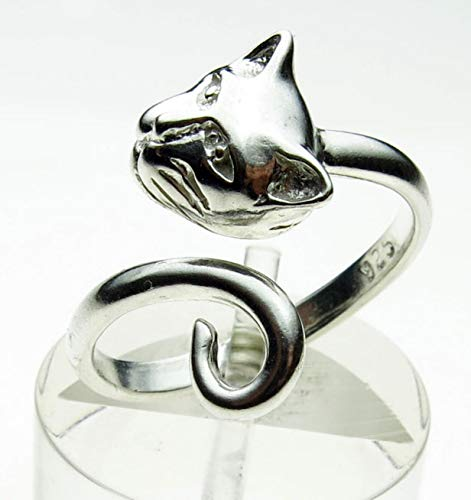 - Sterling 925 Silver Hand Made Cat Head and Tail Torque Ring, Variable Size. By Welded Bliss Studios