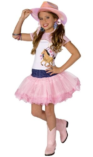 Children's Star Pop Costumes (Planet Pop Star Cowgirl Costume - Child Costume - Large)