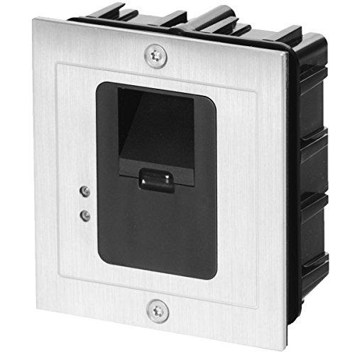 AE Unterputz-Fingerprint-Zutrittskontroller mit externer Auswerteeinheit 2 Zonen und Netzteil, wetterfest IP65, AE-601Z2