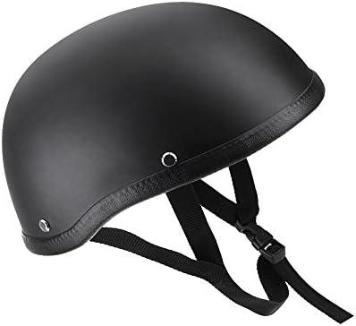 Amazon.es: KKmoon Casco de Moto Abierto Media Cara Casco Negro Mate Casco de Protección para Moto Scooter