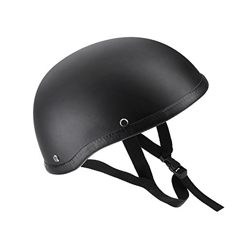 KKmoon Motorcycle Half Open Face Helmet Matt Black Protection Shell Helmet...