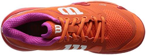 Violet Orange WILSON Red Tennis Fiery Shoe Women`s Rush 5 Red Nasturtium Rose 2 Pro SP1Rw