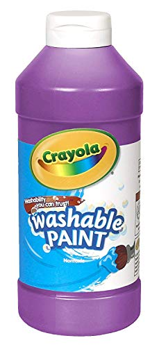 Crayola Washable Paint, Purple Paint Craft Supplies, 16 ounce