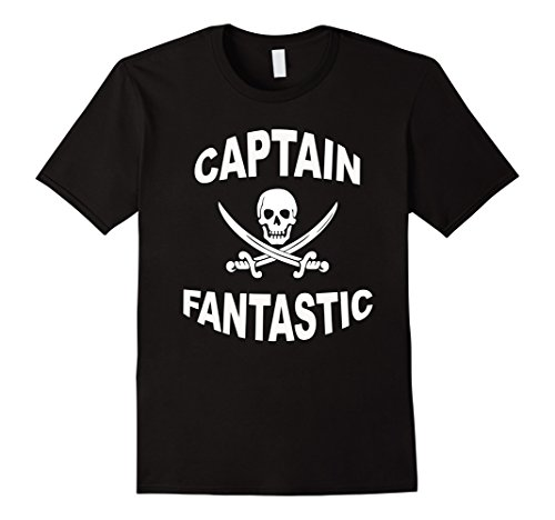 Mens Pirate T-Shirt : Captain Fantastic Pirate Costume XL Black