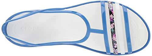Crocs Kvinners Isabella Flat Blå Jean / Østers
