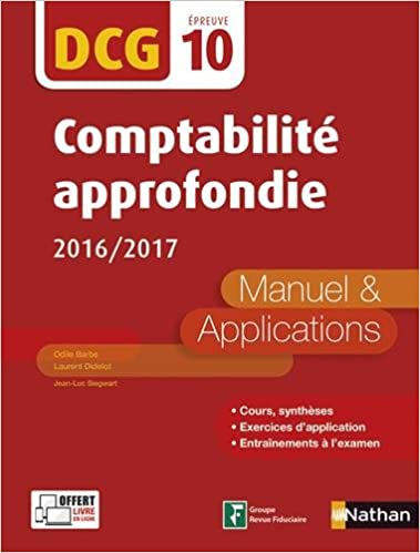 Téléchargement Comptabilité approfondie 2016/2017 pdf epub