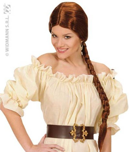 Peasant W/ Plait - Brown Wig For Fancy Dress Costumes & Outfits Accessory]()
