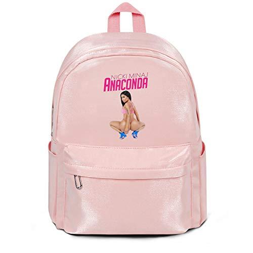Mens Womens Nicki-minaj-and-lil-kim- Backpacks 15.4 Inch Student Bags Nylon