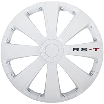 Style Auto Set Wheel Covers RS-T 15-inch White