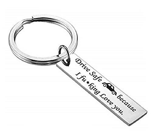NextStone I Love You Lettering Tag Valentine's Day Key Chain (Love Necklace Key)