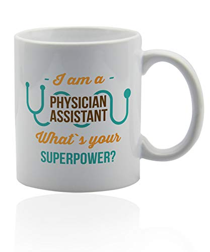 (Physician assistant gifts 11 oz. white ceramic cup. Physician assistant mug. Gifts for physician assistants)