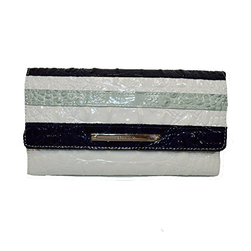 Brahmin Soft Checkbook Wallet Sea Glass Vineyard Clutch by Brahmin