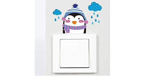 LGDB Etiqueta de la Pared Pingüino Interruptor Pegatinas PVC ...