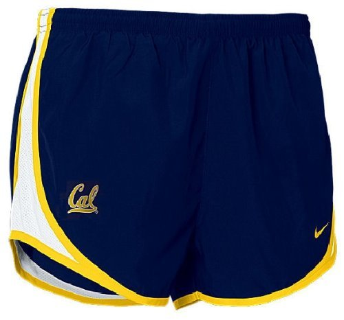 California Bears Short (California Bears Nike Women's Tempo Athletic Running Shorts Navy/Yellow (S))
