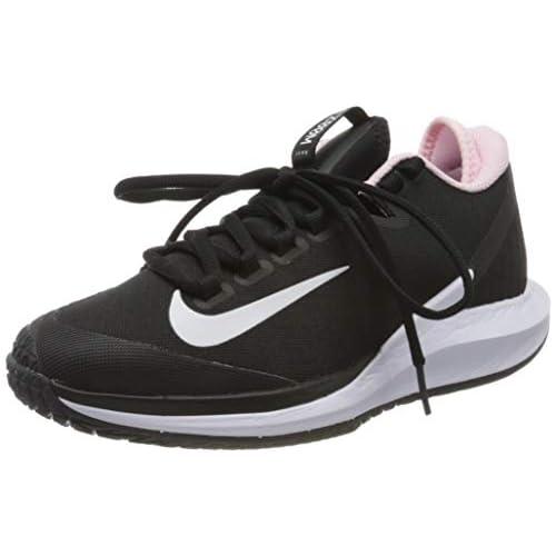 chollos oferta descuentos barato Nike W Nikecourt Air Zoom Zero HC Zapatilla de Tenis para Mujer Black White Pink Foam 42 EU