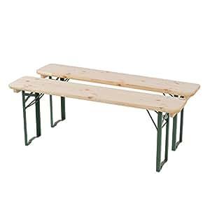 2x Banco Para Mendler Bern–Set de bancos y mesa (130cm