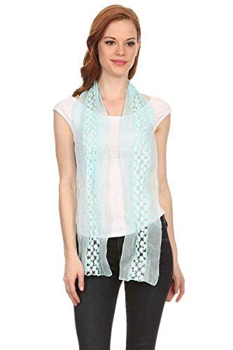 LL Ladies Pretty Daisy Aqua Blue Embroid - Skinny Scarf Crochet Pattern Shopping Results