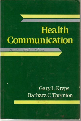 Health communication: Theory and practice (Communication and careers)