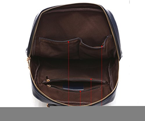 3019 Missmay Backpack Spring Leather red Soft Casual Women's Sports 2016 Travel Genuine Wine Purse Orwq0Ox
