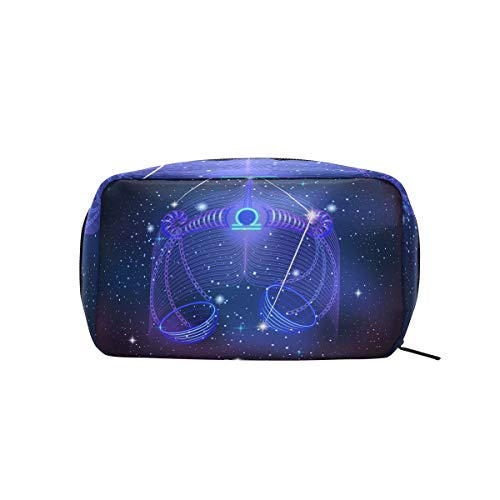 Constellation Zodiac Sign Libra Makeup Case Cosmetic Bag