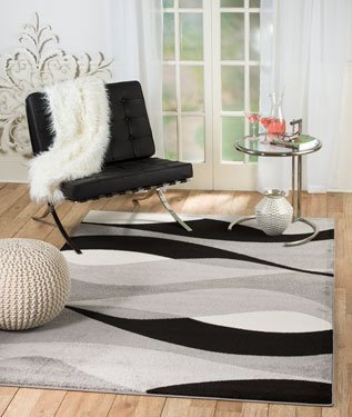 Amazoncom Rio B1 Zpi4 Iiup Summit 307 Grey Black White Area Rug