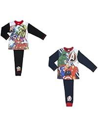 2 Pack Marvel Avengers Boys Pyjamas Size 4-10 Years
