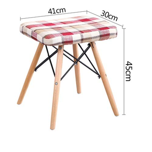 Red Paddia Dining Chair Plastic Wood Retro Modern Furniture for Living Room Desk Patio Terrace Office Kitchen Lounging More Wooden Chairs Legs Comfortable Padded Seat Home Office Design Chair