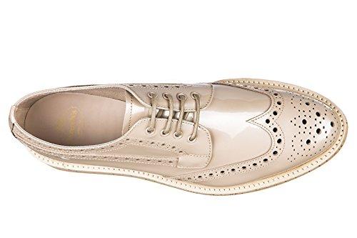 metal patet derby cordones rosa nuevo Church's zapatos mujer piel en clásico de v4agzq
