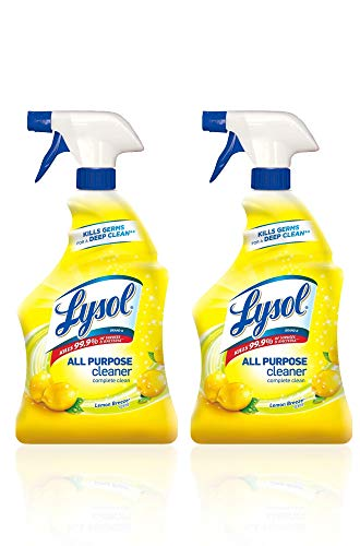 Lysol All Purpose Cleaner, Lemon Breeze, 32 Fl Oz(Pack of 2)