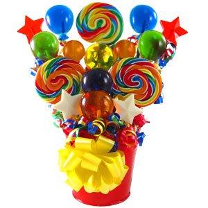 (Festive Swirl Lollipop Bouquet)