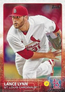 2015 Topps Baseball Card #261 Lance Lynn NM-MT