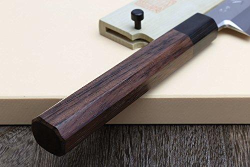 Yoshihiro Hongasumi Blue Steel Yanagi Sushi Sashimi Japanese Knife Rosewood Handle (240mm/9.5'') by Yoshihiro (Image #4)