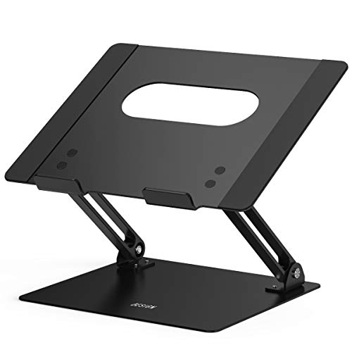 Besign LS10 Aluminum Laptop Stand, Ergonomic Adjustable Notebook Stand, Riser Holder Computer Stand Compatible with MacBook Air Pro, Dell, HP, Lenovo More 10-15.6 Laptops, Black