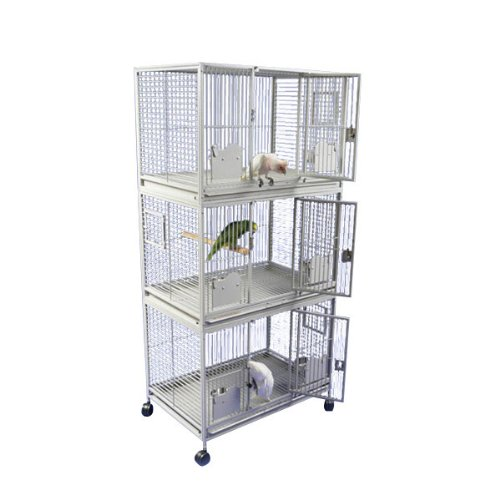 A and E Cage Co. Sanibel Triple Stack Bird Cage
