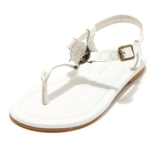 Scarpa Ralph Susanne Bimba Sandalo Bianco Lauren 8845F Infradito Ciabatta White Shoes rZwrpYq